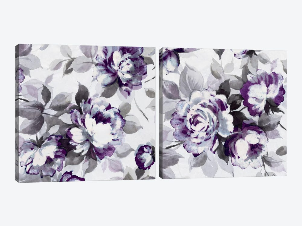 Scent of Plum Roses Diptych by Wild Apple Portfolio 2-piece Canvas Art Print