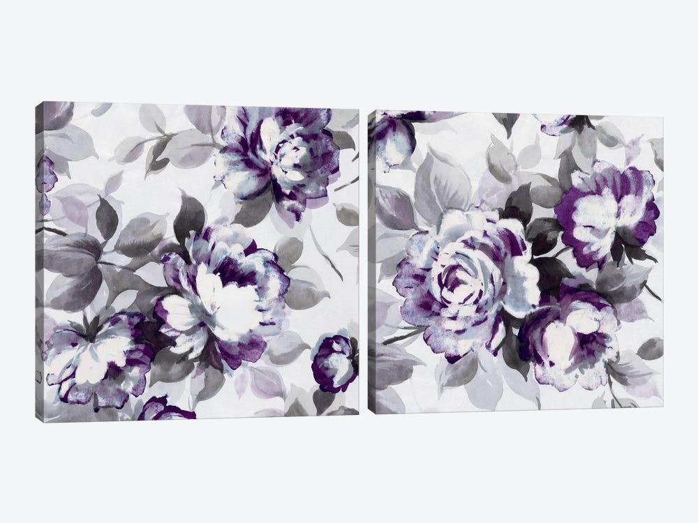Scent of Plum Roses Diptych by Wild Apple Portfolio 2-piece Canvas Art Print