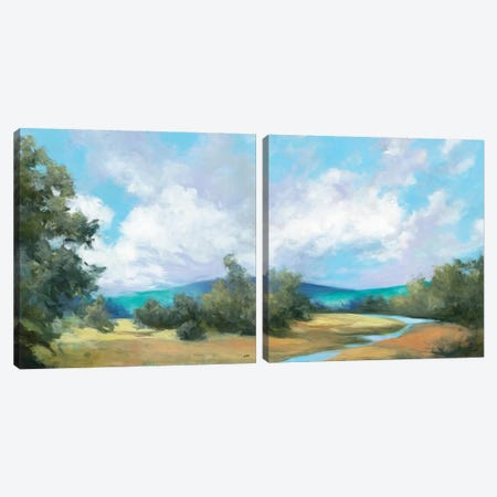Hedgerow Diptych Canvas Print Set #WAC2HSET012} by Julia Purinton Canvas Art Print