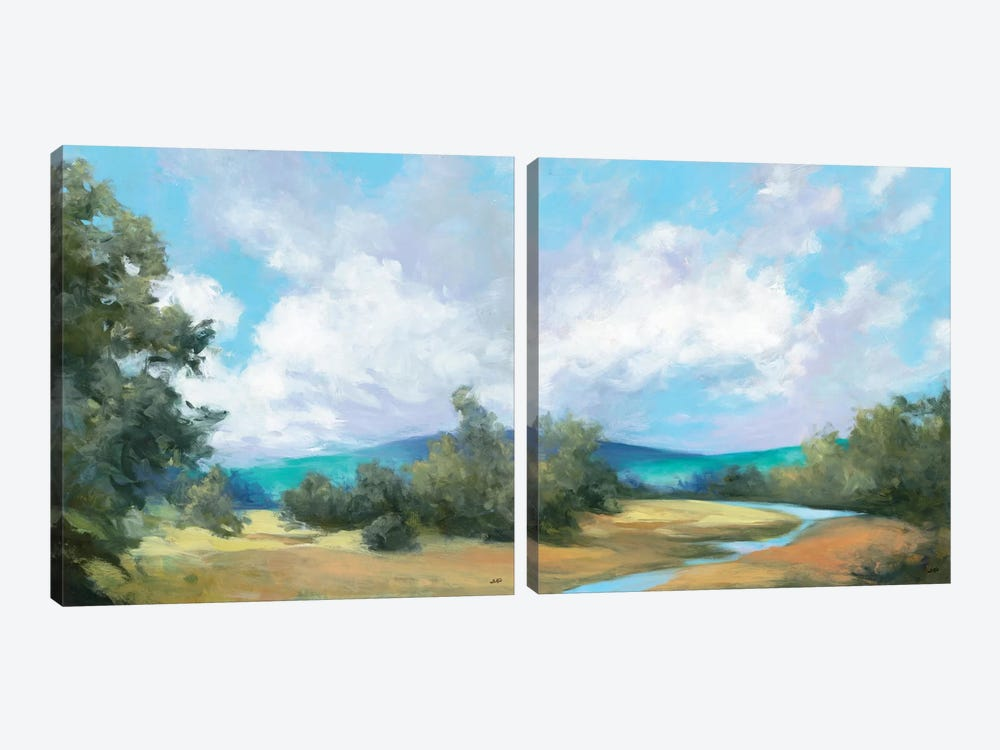Hedgerow Diptych by Julia Purinton 2-piece Canvas Art