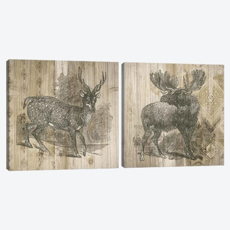 Natural History Lodge Diptych Canvas Print Set #WAC2HSET017} by Elyse DeNeige Canvas Artwork