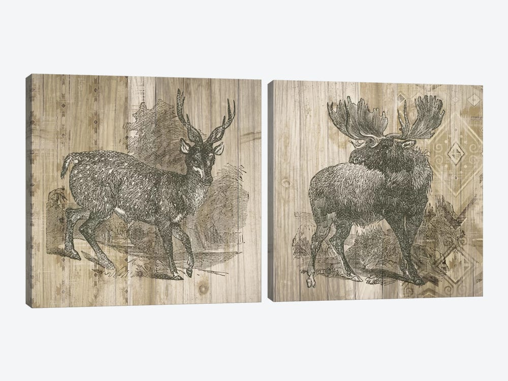 Natural History Lodge Diptych by Elyse DeNeige 2-piece Canvas Art Print