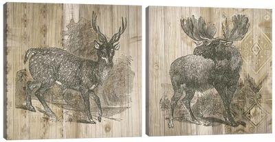 Natural History Lodge Diptych Canvas Art Print