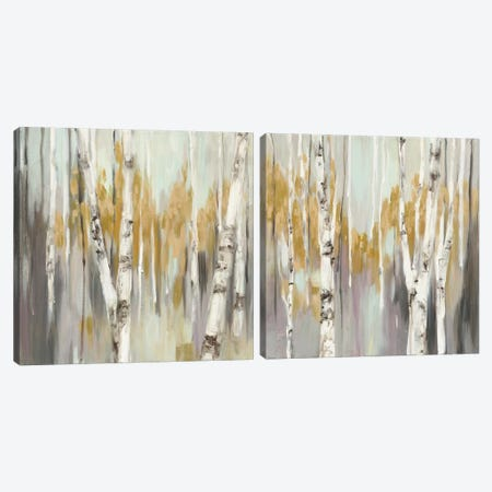 Silver Birch Diptych Canvas Print Set #WAC2HSET018} by Julia Purinton Canvas Art Print