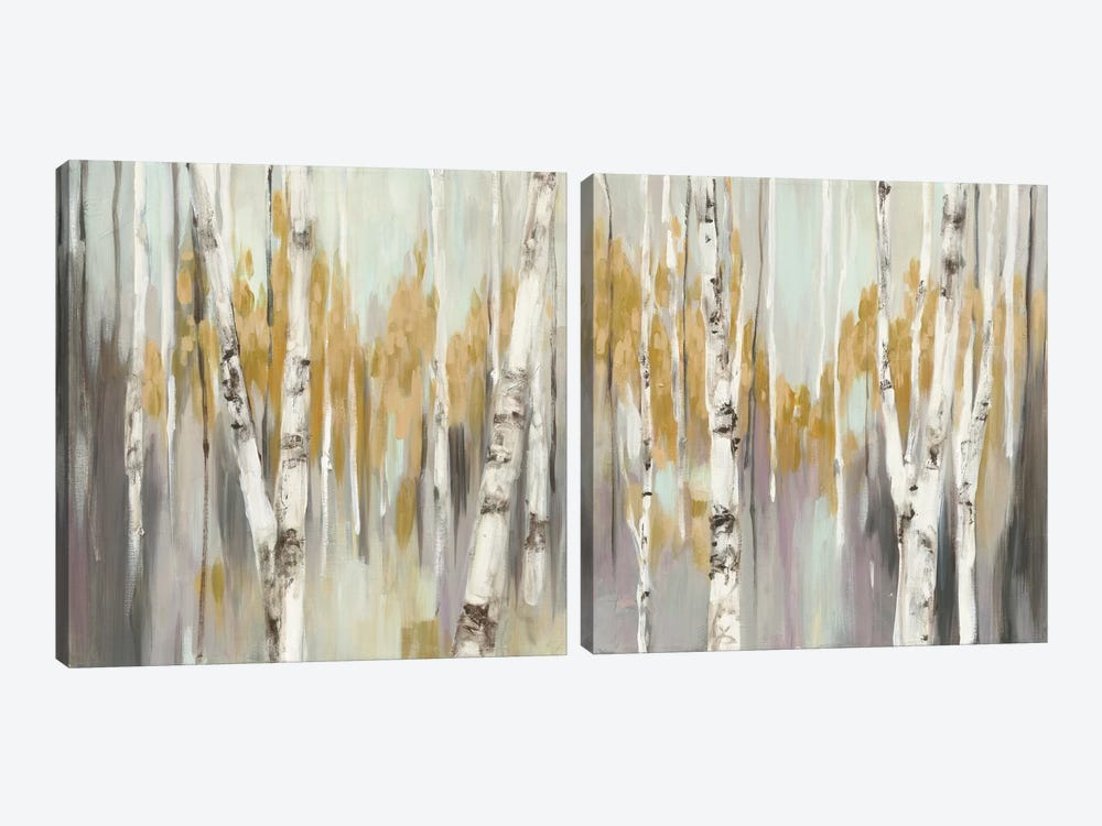 Silver Birch Diptych by Julia Purinton 2-piece Canvas Art