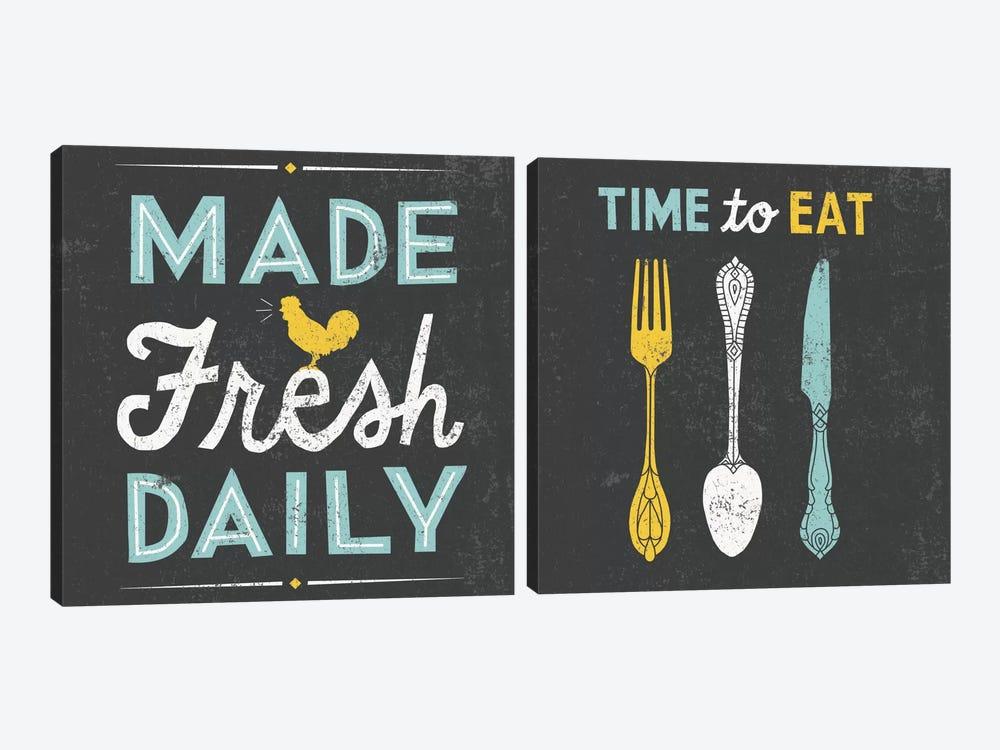 Retro Diner Diptych by Michael Mullan 2-piece Art Print