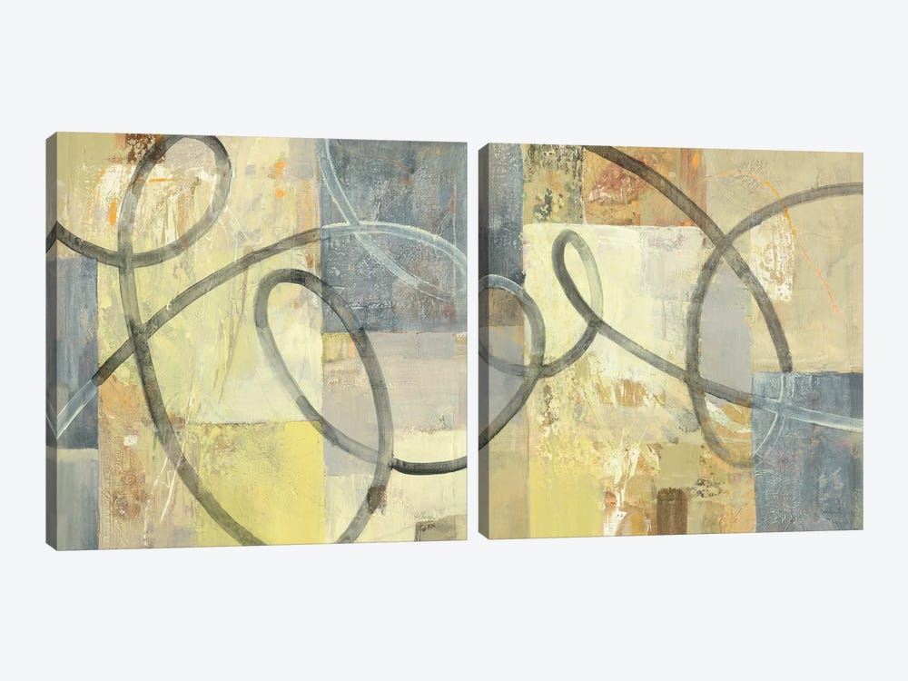 Ribbon Dance Diptych 2-piece Canvas Artwork