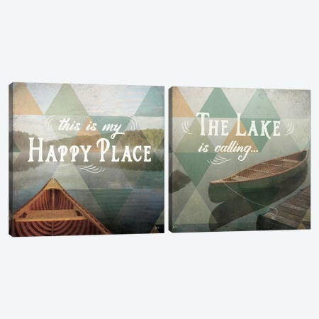 Calm Waters Diptych Canvas Print Set #WAC2HSET024} by Jess Aiken Art Print