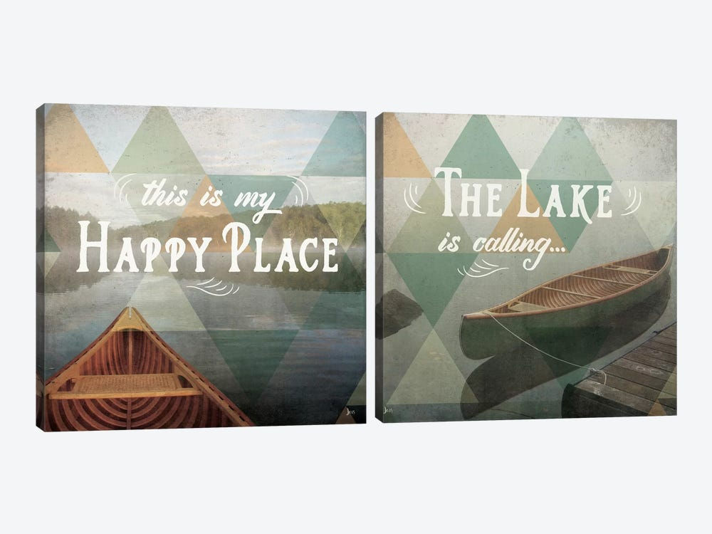 Calm Waters Diptych by Jess Aiken 2-piece Canvas Art Print