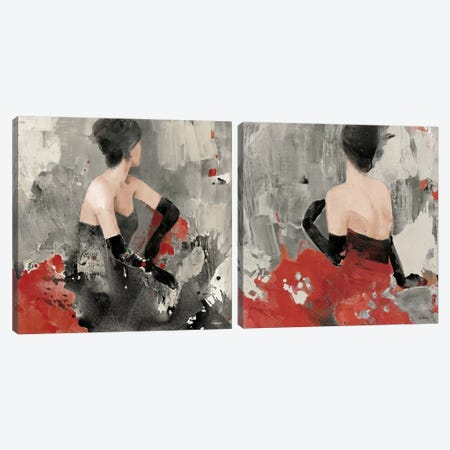 Beautiful Gaze Diptych Canvas Print Set #WAC2HSET025} by Albena Hristova Art Print