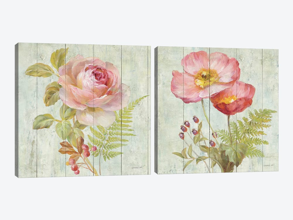 Natural Flora Diptych by Danhui Nai 2-piece Canvas Artwork
