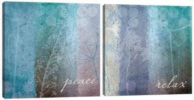 Ethereal Inspirational Diptych Canvas Art Print