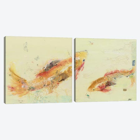 Fish in the Sea Diptych Canvas Print Set #WAC2HSET034} by Kellie Day Canvas Wall Art