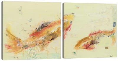 Fish in the Sea Diptych Canvas Art Print