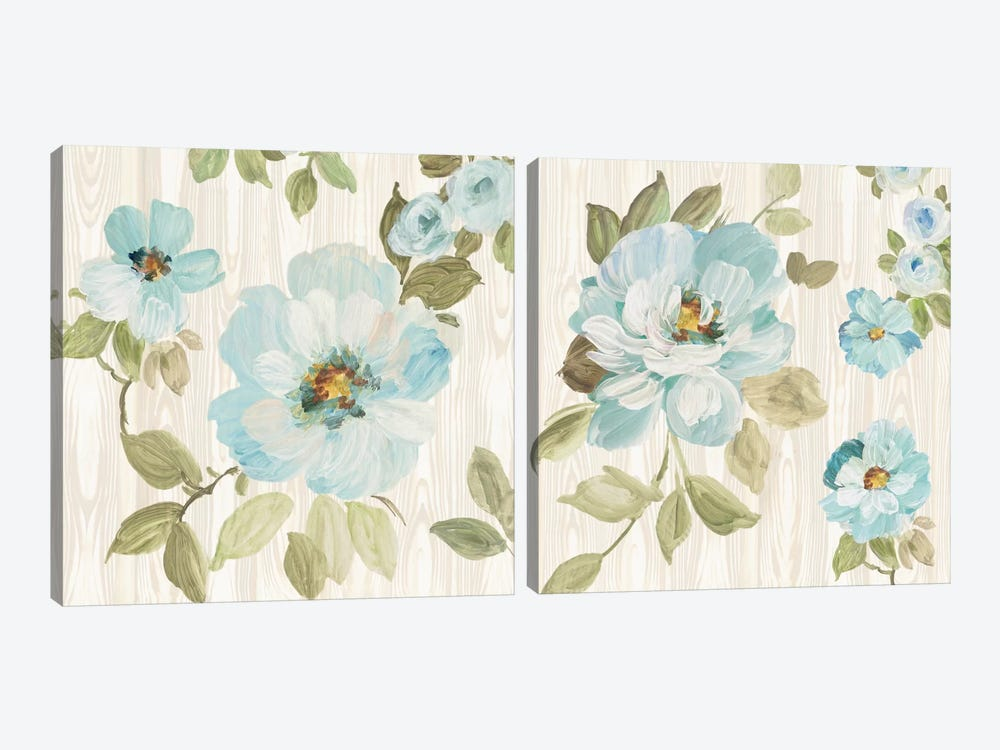 Driftwood Garden Diptych by Wild Apple Portfolio 2-piece Art Print