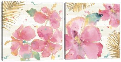 Flamingo Fever Diptych Canvas Art Print
