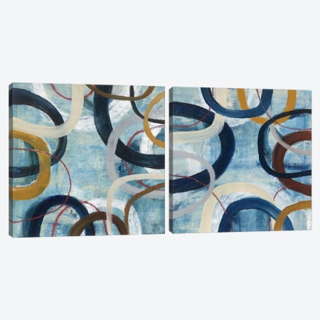 Dwell Diptych Canvas Print Set #WAC2HSET041} by Cheryl Warrick Canvas Wall Art