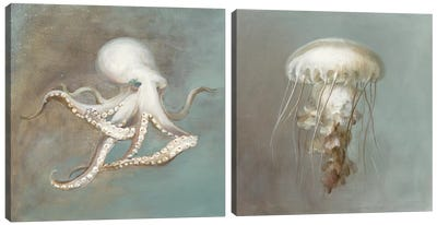 Teasures from the Sea DIptych Canvas Art Print