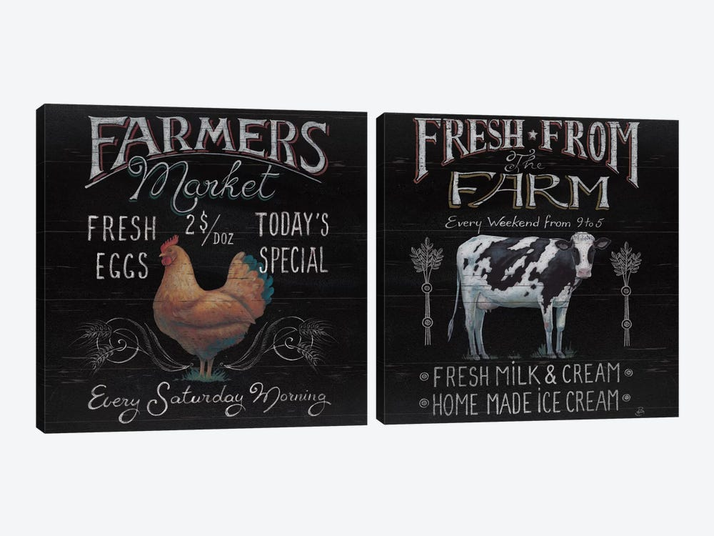 Farmers Market Diptych by Daphne Brissonnet 2-piece Canvas Art