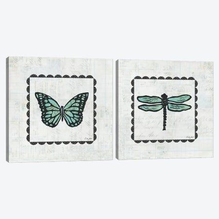 Stamp Diptych Canvas Print Set #WAC2HSET046} by Courtney Prahl Canvas Print