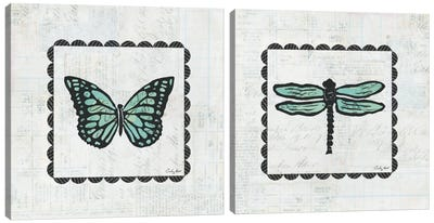 Stamp Diptych Canvas Art Print