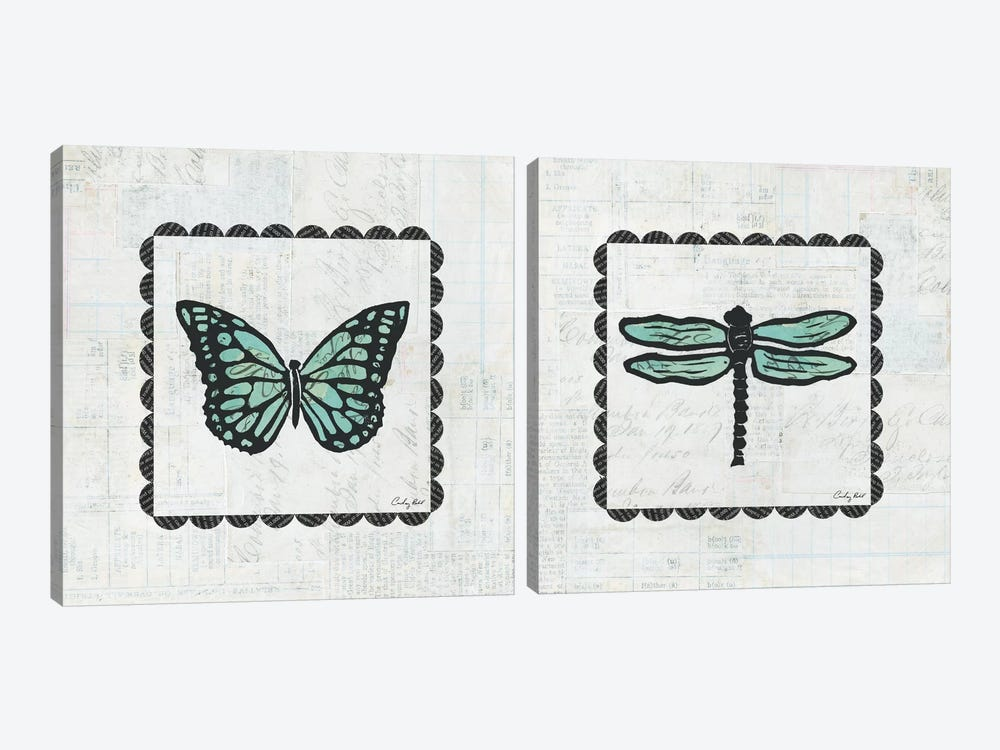 Stamp Diptych by Courtney Prahl 2-piece Art Print
