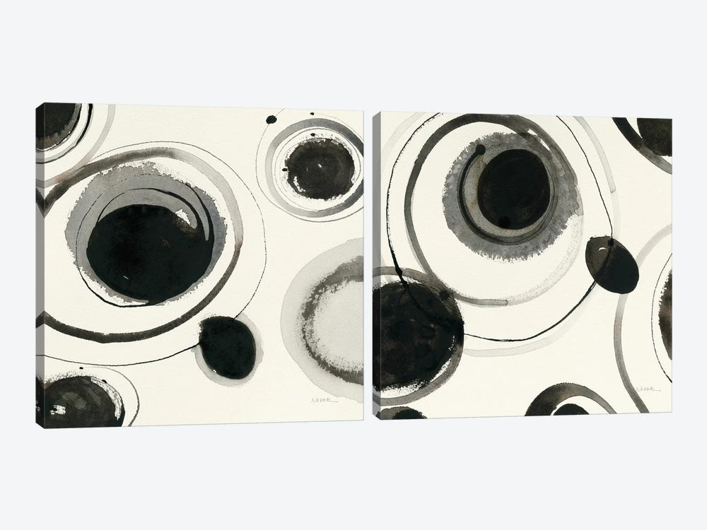 Planetary Diptych by Shirley Novak 2-piece Canvas Wall Art