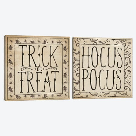 Hocus Pocus Diptych Canvas Print Set #WAC2HSET049} by Sara Zieve Miller Canvas Art