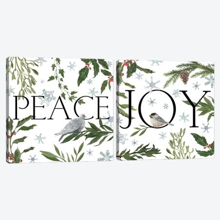 Peace & Joy I Diptych Canvas Print Set #WAC2HSET050} by Sara Zieve Miller Canvas Art Print