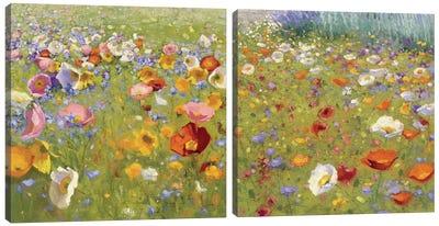 d29687a95c22 Champ De Fleur Diptych Canvas Art Print