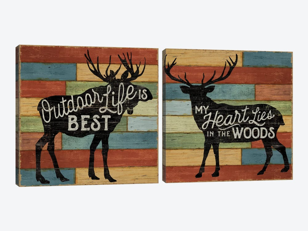 Lake Lodge Diptych 2-piece Canvas Art