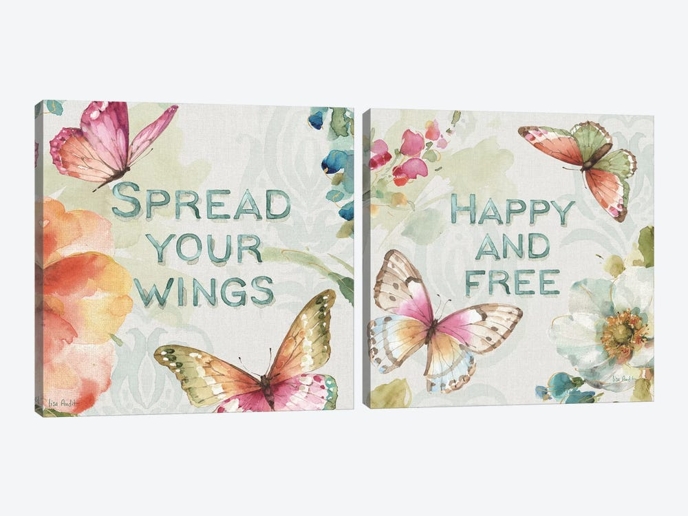 Colorful Breeze Diptych by Lisa Audit 2-piece Canvas Artwork