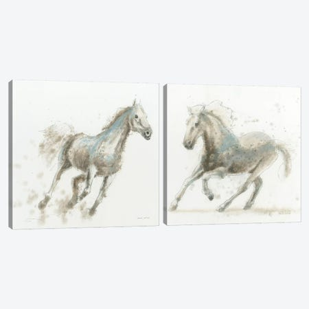 Stallion Diptych Canvas Print Set #WAC2HSET062} by James Wiens Canvas Art
