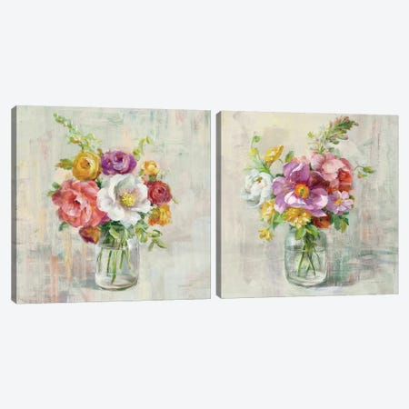 Summer Treasures Diptych Canvas Print Set #WAC2HSET063} by Danhui Nai Canvas Artwork