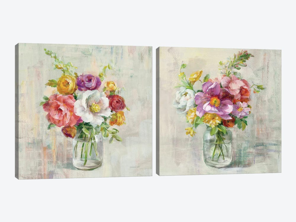 Summer Treasures Diptych by Danhui Nai 2-piece Canvas Art