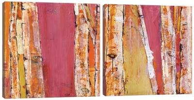 Where The Sun Sleeps Diptych Canvas Art Print
