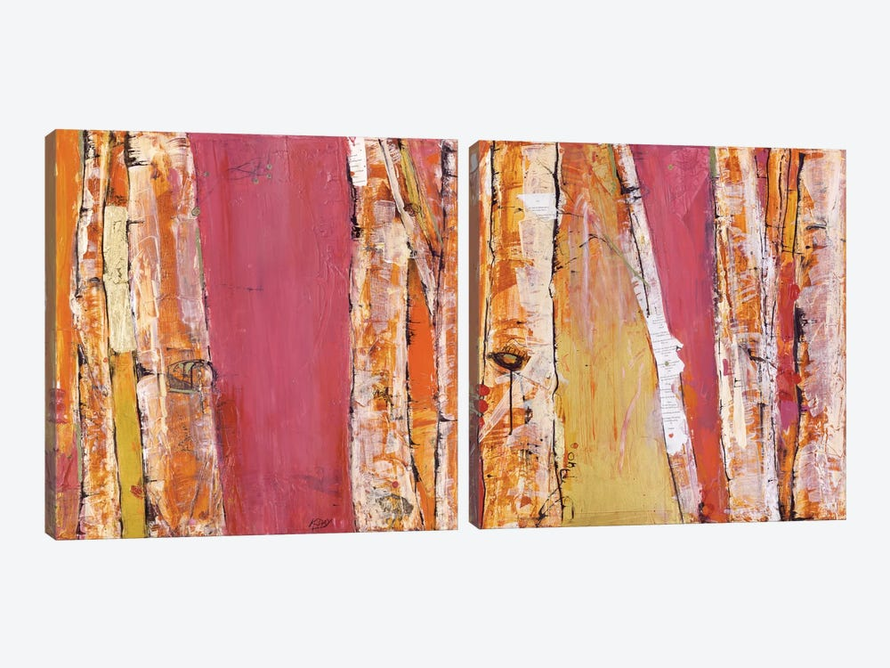 Where The Sun Sleeps Diptych by Kellie Day 2-piece Canvas Artwork