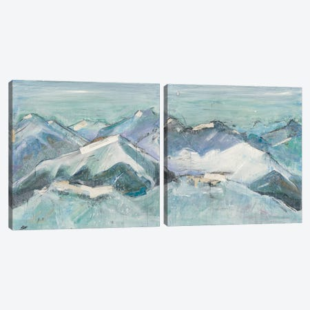 The Sun Never Says Diptych Canvas Print Set #WAC2HSET073} by Kellie Day Art Print
