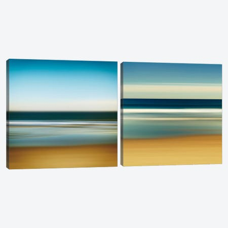 Sea Stripes Diptych Canvas Print Set #WAC2HSET074} by Katherine Gendreau Canvas Art