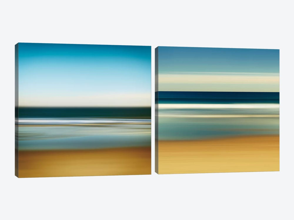 Sea Stripes Diptych by Katherine Gendreau 2-piece Canvas Artwork