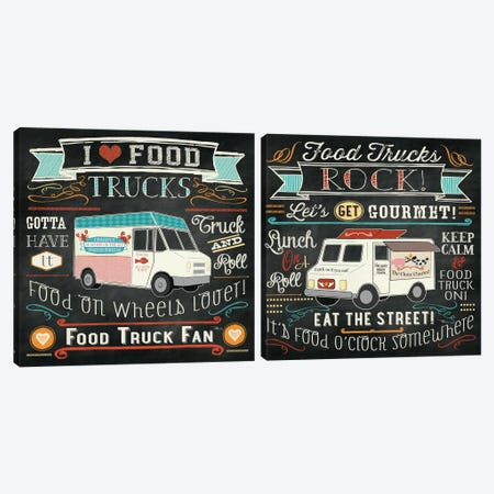 Food Truck Diptych Canvas Print Set #WAC2HSET076} by Pela Studio Canvas Artwork
