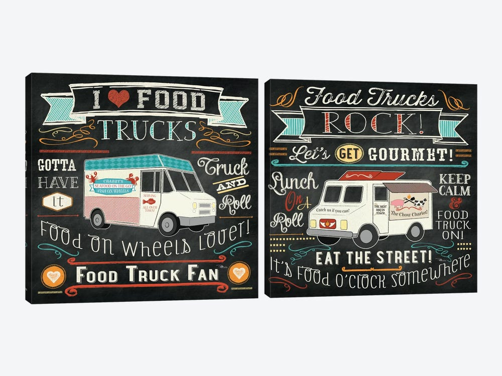 Food Truck Diptych by Pela Studio 2-piece Canvas Artwork