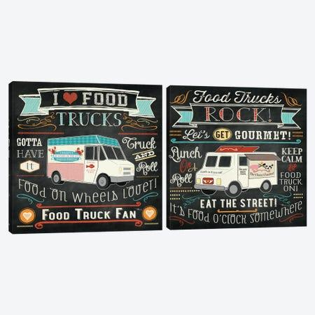Food Truck Diptych Canvas Print Set #WAC2HSET076} by Pela Studio Canvas Artwork