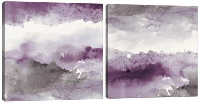 Midnight At The Lake Diptych Canvas Art Print