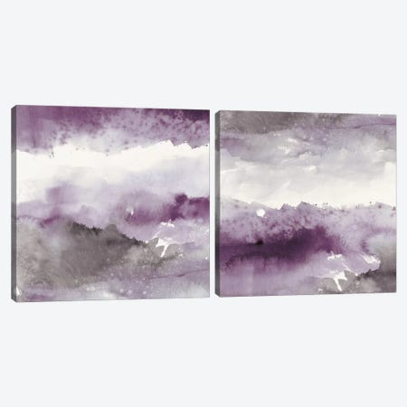 Midnight At The Lake Diptych Canvas Print Set #WAC2HSET077} by Mike Schick Canvas Artwork