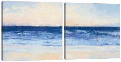 True Blue Ocean Diptych Canvas Art Print