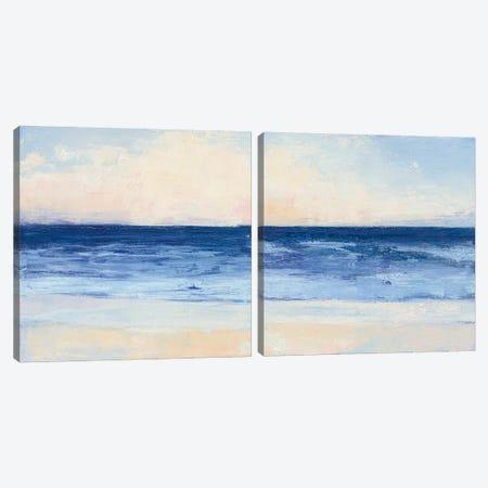True Blue Ocean Diptych Canvas Print Set #WAC2HSET079} by Julia Purinton Art Print