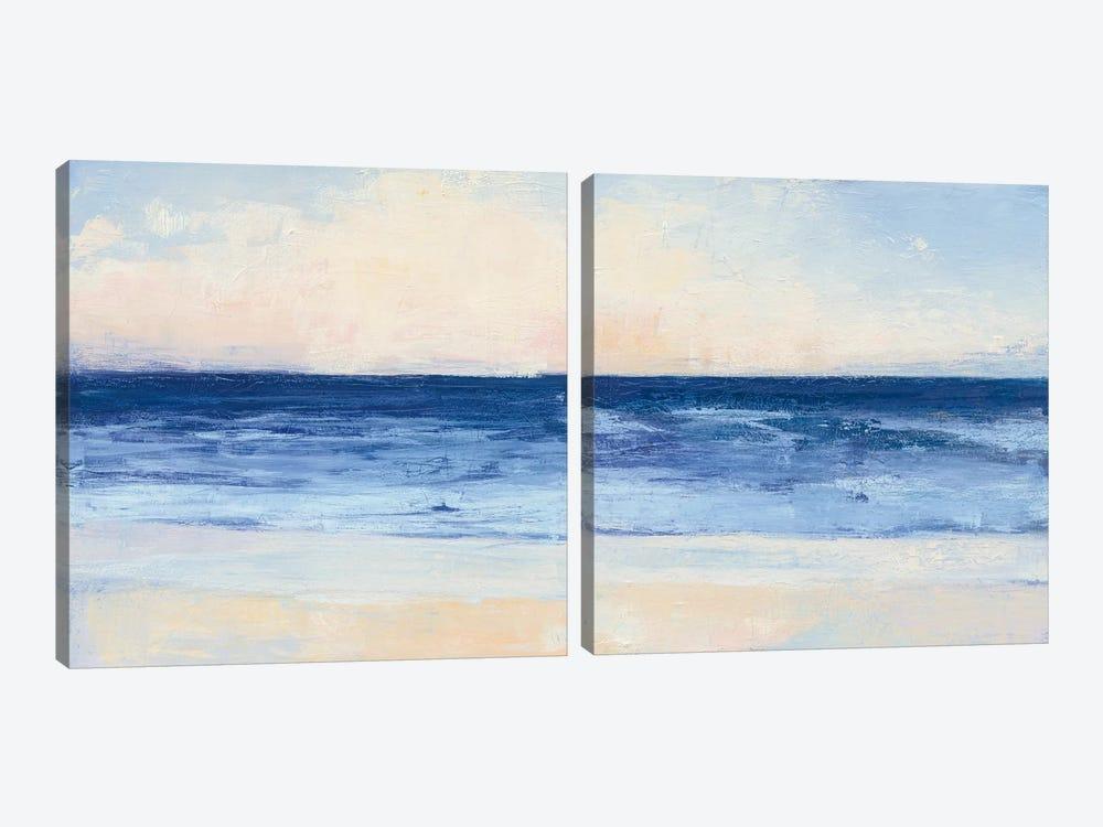 True Blue Ocean Diptych by Julia Purinton 2-piece Canvas Art Print