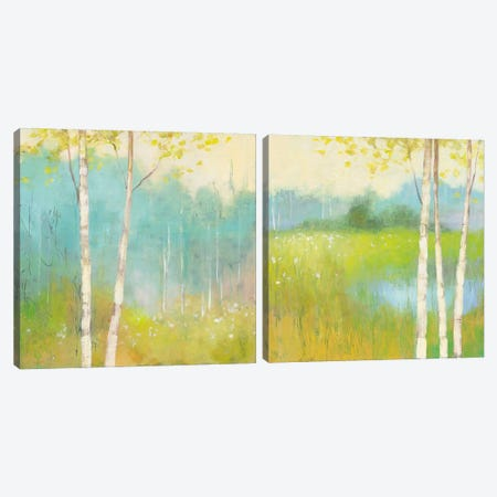 Spring Fling Diptych Canvas Print Set #WAC2HSET080} by Julia Purinton Canvas Wall Art