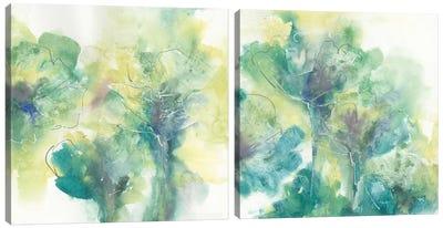 Garden Diptych Canvas Art Print